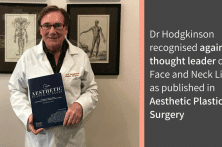 Dr Hodgkinson recognised again as a thought leader on Face and Neck Lifting