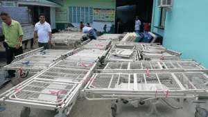 Beds from Westmead arrive at Alabat
