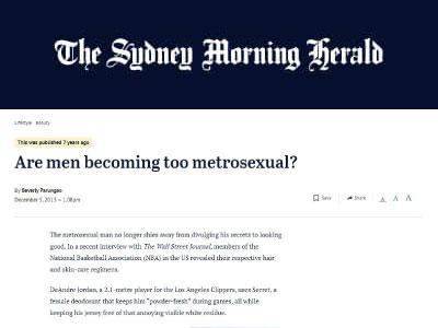 Are men becoming too metrosexual