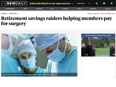 Retirement savings raiders helping members pay for surgery