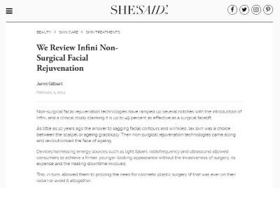 We Review Infini Non-Surgical Facial Rejuvenation
