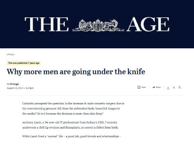 Why more men are going under the knife
