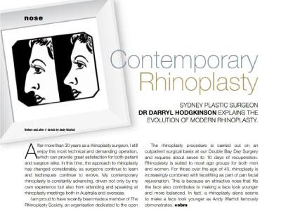 contemporary rhinoplasty