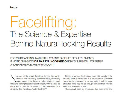 facelifting the science and expertise behind natural looking results