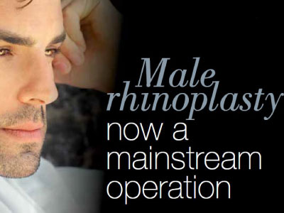 male rhinoplasty now a mainstream operation