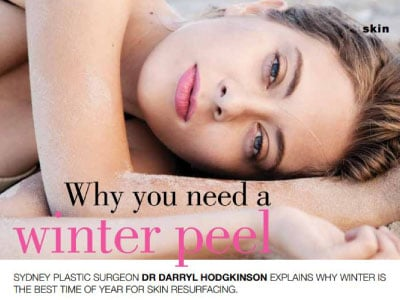 why you need a winter peel